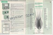 1961 REZNOR MFG Co (Now ITT) Direct Fired HEATERS ASBESTOS HISTORY VTG Catalog