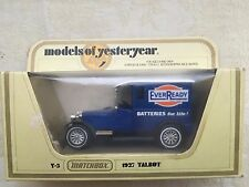 Matchbox Models of Yesteryear 1927 Talbot Eveready Diecast Model from 1978 /1:47