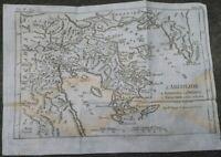 1790 GRECIA: BELLA CARTA GEOGRAFICA DELL'ARGOLIDE, PELOPONNESO