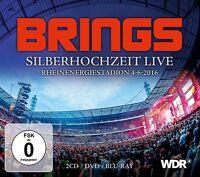 BRINGS - SILBERHOCHZEIT LIVE (BOX SET 2CD/DVD/BLURAY)  3 CD+DVD NEU
