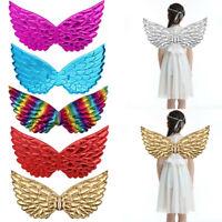 """Kids Unisex Glossy Metallic Angel Wings Fairy Party Costume Fancy Dress Prop 17"""""""