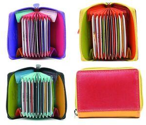 Golunski Leather Multi Coloured Concertina Credit Card Holder in various colours