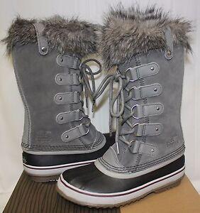 Sorel Women's Joan of Arctic waterproof boots Quarry Grey / Black New!