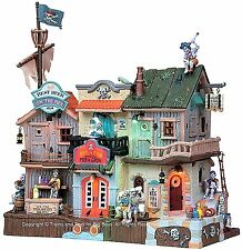 Lemax 85666 PIRATES' PUB & GRUB Spooky Town Building Animated Halloween Decor I