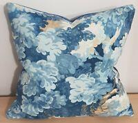 Omega Prints English Oak Cornflower & Amalfi Velvet Cushion Cover 45x45 cm