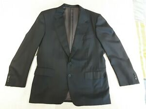 Ermenegildo zegna Black navy striped mens 100% Wool Blazer Jacket Size 50 GRC