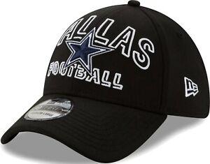 Dallas Cowboys Hat New Era 39Thirty Flex Fit Cap M/L Black Star Logo Football