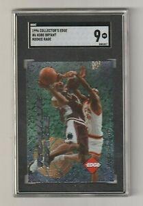 1996-97 COLLECTOR'S EDGE Kobe Bryant ROOKIE RAGE RC *SGC 9* MINT LA Lakers HOF