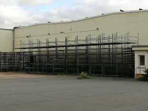 12 Stück Transportpalette Stapelbarer Ladungsträger Regal Behälter Lager  blau