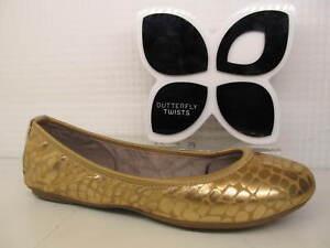 Butterfly Twists Twist Sophia Rose Gold Leopard Flat Metallic Ballerina Shoe