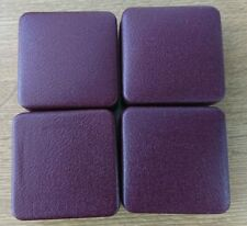 More details for four empty dark red boxes for full sovereign coins in good condition