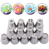 Flower Pattern Nozzles For Pastry Cake Cupcake Decorating Icing Piping Kit 13pcs