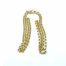9ct Yellow Gold 24inch D/Cut Belcher Chain Hallmarked- Presentation Boxed