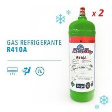 2 BOMBOLE GAS REFRIGERANTE R410A DA 1 LT RICARICA CONDIZIONATORE AUTO