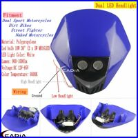 Supermoto Enduro Motocross LED Headlight Head Lamp For Yamaha WR250R X F YZ250 F