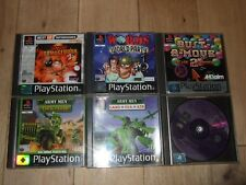 6 PS1/PS2 PS3 GAMES HARRY POTTER ARMY MEN WORMS BUST A MOVE JOBLOT