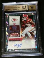 BGS 9.5/10 1/1 MARCUS PETERS RC AUTO #'D /23 *CRACKED ICE ROOKIE 2015 Contenders