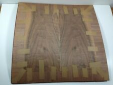 """Wood walnut Veneer Top for makeing two 18"""" sq Table Tops for a Sofa Table"""