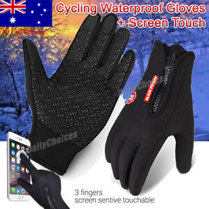 Unisex Winter Warm Windproof Waterproof Anti-slip Thermal Touch screen Gloves AU