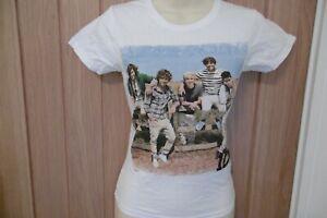 Neuf One Direction 1D Officiel Couleur Bande Photo T-Shirt 9-11 12-13 Ans
