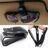 Car Auto Sun Visor Glasses Sunglasses Card Ticket Holder Clip Universal Black H7