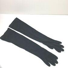 "Vintage Opera Length Black Gloves Sz 6 Nylon 18"" long"