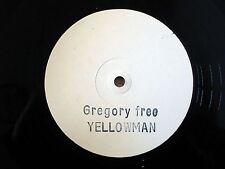 """Yellowman Gregory Free White Label A1 B1 12"""" Hawkeye HD-52 EX/EX"""
