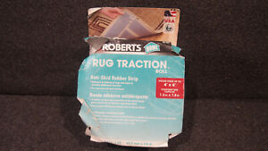 "ROBERTS RUG TRACTION ROLL 2 1/2"" X 25' FEET NEW"