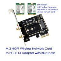 M.2 NGFF to PCI-E Converter Wireless WiFi Bluetooth Network Card Adapter Board