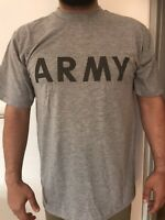 3X  US-Army-Short-Sleeve-Sportshirt-Kurzarm-Pt Sport Grau ORGINAL! Reflektor