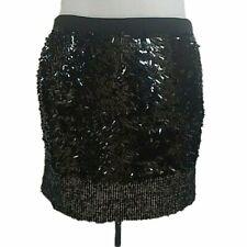 J.Crew Womens 2 Skirt Black Sequined Silk and Tweed