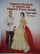 Uncut Paper Dolls - Empress Elizabeth of Austria, Emperor Franz Joseph - Tierney