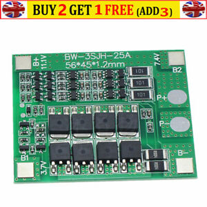 Lithium Battery Protection Board BMS PCB Board 3S 12V 25A BMS w balance circuit