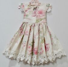 Dollcake Oh So Girly Garden Ladies Vintage Inspired Lace Ivory Floral Dress, 4