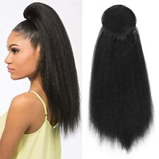 22'' Yaki Kinky Straight Drawstring Ponytail Clip In Synthetic Hair Extensions