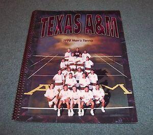 Texas A&M 1998 Men's & Women's Tennis Media Guide