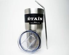Stainless Steel 30 oz. Tumbler with Straw and Spill proof Lid