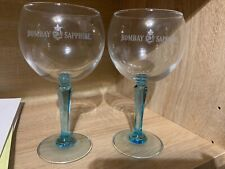 Bombay Sapphire Large Gin Glasses/ Balloons X2 Brand New Bar Beer Ale Authentic