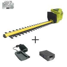 Cordless 20 Volt Electric Hedge Trimmer Kit W 2.0 Ah Battery Charger Sun Joe