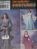 Renaissance Medieval Dress Costume size 14-20 Simplicity 9891 Sewing Pattern