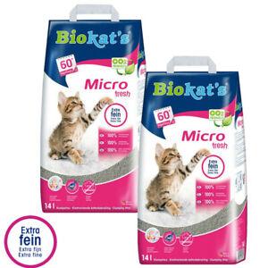 Economy Pack: 2 x 14l Biokat's Micro Fresh Cat Litter Virtually Dust-Free