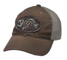 G Loomis Distressed Oval Hat Cap Brown w/ Tan Mesh Back & Fish Bone Logo OSFM
