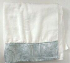 Grand Resort Collection 100% Cotton  Bath Towel 27x52 IN. White & Blue
