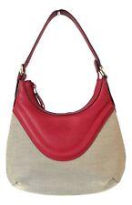 d74a06ee7e GUCCI borsa shopping a spalla donna in tessuto e pelle 262902 204991 beige  rosso