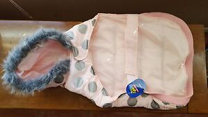 Top Paw Hoodie Dog Parka Size XL BUT FITS LIKE L:Pink Silver Sweater