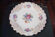 ILMENAU-HENNEBERG PORCELAIN (Germany)-Mid Century,floral molded platter[141]