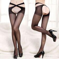 Thigh Body Stay up Long Sheer Top High Silk Stocking Women Socks Black