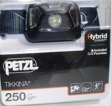 Petzl Stirnlampe Tikkina, Color Stormy Grey, 250 Lumen, Kopflampe, Headlight