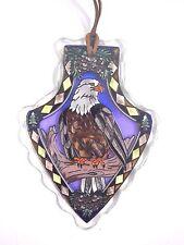 "AMIA STAINED GLASS SUNCATCHER EAGLE ARROWHEAD  4 X 6""  #41123"