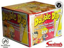 NEW Swizzels Double Dip BOX 10 X 19g bags PARTY BAG STOCKING FILLER SWEETS